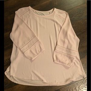 Loft soft pink blouse